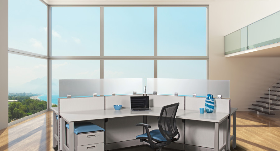 Office Workstations - Blue 130