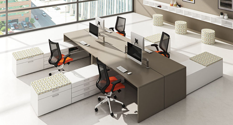 Open Plan Workstations - Pulse Benching