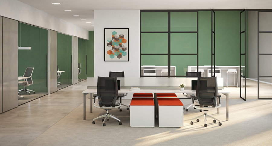 Open Plan Workstations - Staks 6