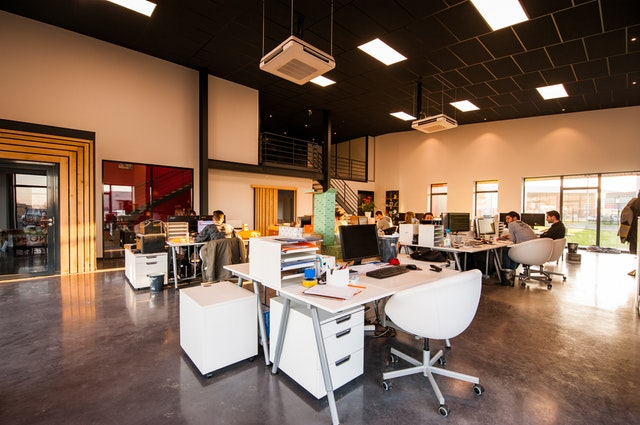 Open floor office Office Workspace The Pros Cons Of Open Office Floor Plans Fruitguys The Pros Cons Of Open Office Floor Plans Extra Office Interiors